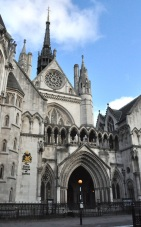 Royal Courts of Justice - front entrance